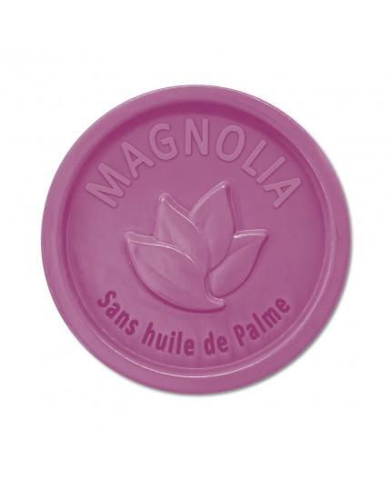 Savon rond 100g sans Huile de palme - Magnolia