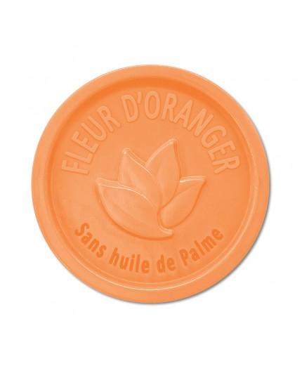 Savon rond 100g sans Huile de palme - Fleur Oranger