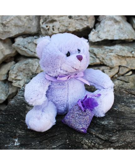 Ours en peluche zippé avec sachet de lavande
