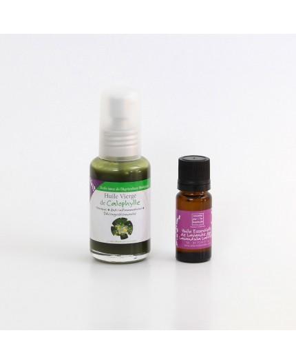 Duo d'huiles : Calophylle et Lavande Aspic