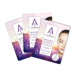 Lot  de 3 masques de beauté visage