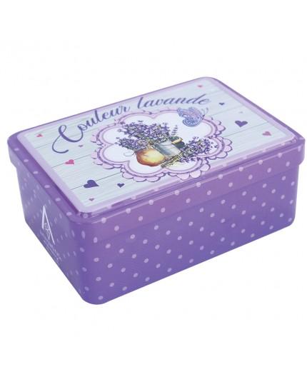 Grande boîte vide à savon - Décor Couleur Lavande