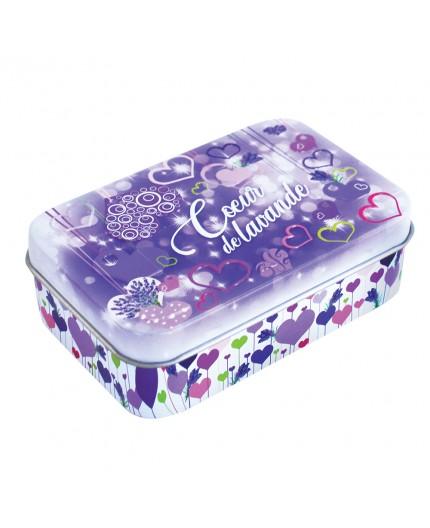 Boîte vide pour savon 100g - Décor Coeur