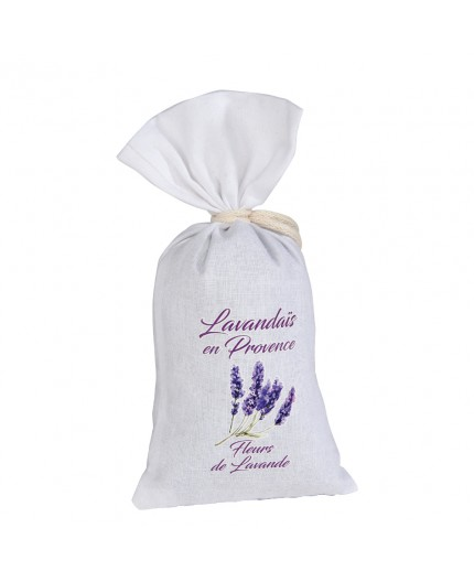 Sachet de Lavande fine Coton 40g - Blanc