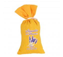 sachet lavande toile coton jaune