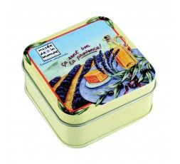 savon lavande et boîte décor huile d'olive