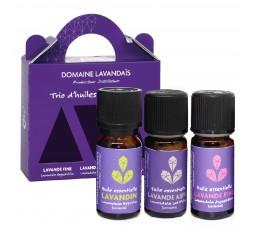 Trio d'huiles essentielles Lavandaïs 10ml