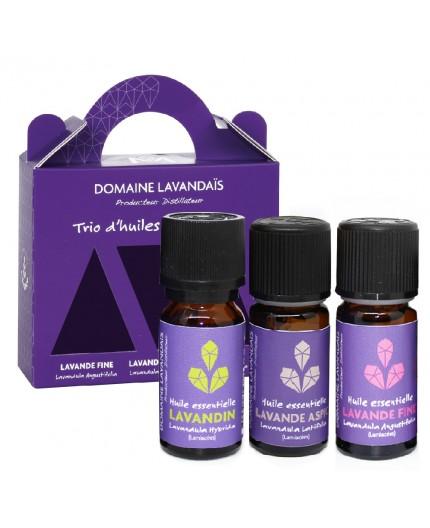 Coffret Trio d'huiles essentielles Lavande - 10 ml