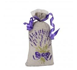 sachet de lavande taupe et bouquet