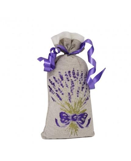 Sachet de Lavandin 30g - Brodé taupe et bouquet